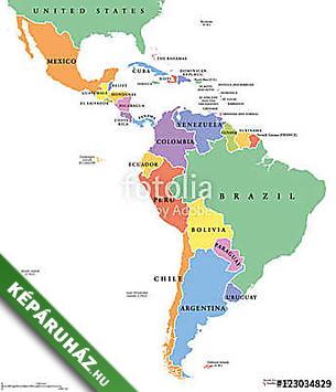Keparuhaz Hu Latin Amerikai Egyes Allamok Politikai Terkepe Az