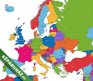 Keparuhaz Hu Szines Europa Terkep Orszagokkal Es Fovarosokkal4