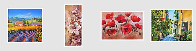 600+ Virágos falikép, vászonkép