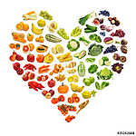 A gyümölcsök és zöldségek szivárvány szíve (id: 10700)