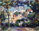 Pierre Auguste Renoir: Tájkép, háttérben a Sacre Coeur (id: 1400) poszter