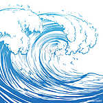 Great wave hand drawing illustration (id: 14300)