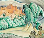 Marokkói tájkép (id: 18200) falikép keretezve