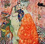 Gustav Klimt: Barátnők (színverzió 2.) (id: 19800) vászonkép