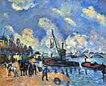 Paul Cézanne: A Szajna Bercynél (id: 500) falikép keretezve