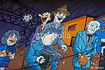 Graffiti a La Boca kerületben Buenos Airesben, Argentínában (id: 9200)