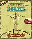 Vintage Brazil Travel plakáttervezés (id: 11801)
