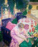 Vaszary János: Kerti asztalnál (id: 19601) vászonkép