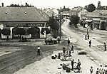 Siófok Fő tér, szemben a Fő utca a Sió felé nézve (1925) (id: 20201) poszter