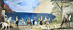 Csontváry Kosztka Tivadar: Sétalovaglás a tengerparton (1909) (id: 20301) vászonkép