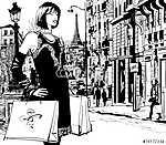 Nő vásárlás Párizsban (id: 5101)