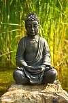 Buddha meditáció a vízen (id: 5501) vászonkép óra