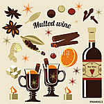 Összetevők forralt borhoz. (id: 7101) vászonkép