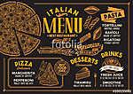 Pizza restaurant menu. Vector food flyer for bar and cafe. Desig (id: 13702) vászonkép