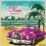 Welcome to Nice retro poster.Печать (id: 19202)