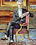 Paul Cézanne: Victor Chocquet ülő portréja (id: 502) vászonkép óra