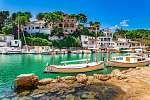 Mittelmeer Insel Mallorca Spanien, Fischerei Hafen Bucht Cala Fi (id: 13903) poszter