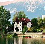 Szlovénia szépségei (id: 17603) falikép keretezve