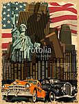 New York vintage poster. (id: 19203)