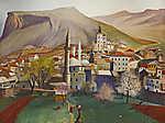 Csontváry Kosztka Tivadar: Tavasz Mosztárban (id: 20303) vászonkép