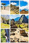 Rejtélyes város - Machu Picchu, Peru, Dél-Amerika (id: 6003) falikép keretezve