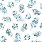 Watercolor seamless pattern with spruce branches. (id: 13004) falikép keretezve