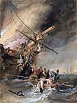 Hajótűz a tengeren (színverzió 1) (id: 18104) tapéta