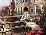 James Tissot: A kompon várva (id: 2404) falikép keretezve