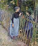 Camille Pissarro: Párbeszéd (id: 2704) többrészes vászonkép