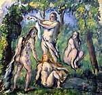 Paul Cézanne: Fürdőzők (id: 404) vászonkép óra