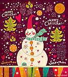 Karácsonyi kártya hóemberrel (id: 4704)