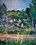 Paul Cézanne: Kilátás Auvers-sur-Oise falucskára (id: 504) falikép keretezve