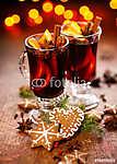 Karácsonyi forralt bor (id: 7104) vászonkép óra