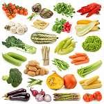Tablókép zöldségekről (id: 10705) vászonkép óra