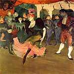 Henri de Toulouse Lautrec: Marcelle Lender bolerót táncol a Chilpéric-ben (id: 1105) vászonkép