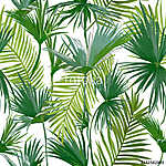 Tropical Palm Leaves, Jungle Leaves Seamless Vector Floral Patte vászonkép, poszter vagy falikép