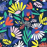 Seamless background with bright flowers (id: 12905) többrészes vászonkép