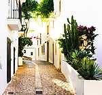 Utcarészlet, Eivissa, Ibiza (id: 17005) többrészes vászonkép