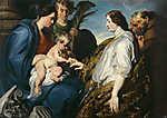 Anthony van Dyck : Szent Katalin misztikus eljegyzése  (id: 19505) tapéta