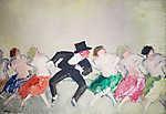 Vaszary János: Éjszakai bár Párizsban (id: 19605) falikép keretezve