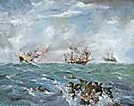 Tengeri csata (id: 19905) falikép keretezve