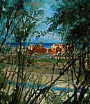 Mednyánszky László: Kék tájkép (részlet) (id: 20005) poszter