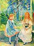 Berthe Morisot: Két lány az ablaknál (id: 2005) többrészes vászonkép