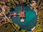 Hévízi-tófürdő légi fotó, drónfotó (id: 20805) tapéta