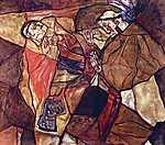 Egon Schiele: Agónia, 1912 (id: 2405) vászonkép óra