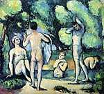 Paul Cézanne: Fürdőzők (id: 405) vászonkép