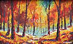 sárga levelekkel szétszórt erdő. (id: 9805) poszter