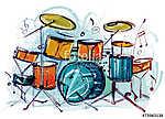 Drum Set (id: 10406) falikép keretezve