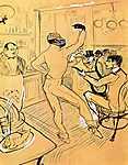 Henri de Toulouse Lautrec: Néger tánc Achille bárjában (id: 1106) poszter