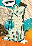 Miaú! (id: 18206) többrészes vászonkép